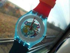 Swatch SUOS101 Merah Navy - Jam Tangan Wanita - Tali Rubber