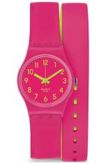 Swatch Women's LP131 - Jam Tangan Wanita - Pink - Silicone