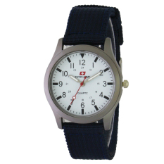 Swiss Army Couple SA 7826L Navy SIL - Jam Tangan Wanita - Kanvas - Navy Blue