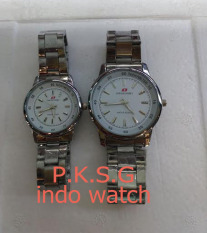 Swiss Army Couple Watch - Stainless steel - SA 6077 Silver