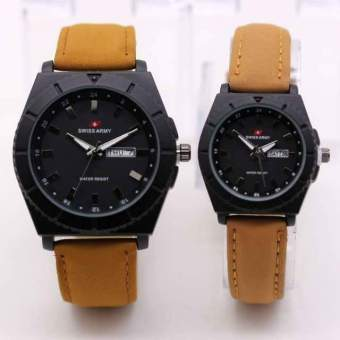 Swiss Army - Jam Tangan Couple - Leather Strap - SA 2238 AD