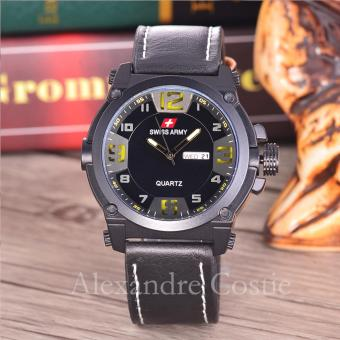 Swiss Army - Jam Tangan Pria - Body Black - Black/Yellow Dial - SA