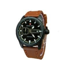 Swiss Army Jam Tangan Pria – Leather Strap - Light Brown - SA 1381LB