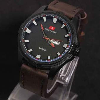 Swiss Army Jam Tangan Pria - Leather Strap - SA 001010 AD