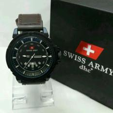 Swiss Army Jam Tangan Pria - Leather Strap - SA 099