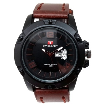 Swiss Army - Jam Tangan Pria - Leather Strap - SA4071DB