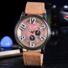 Swiss Army Jam Tangan Pria - Swiss Army Sporty & Elegant Watches - Body Bronze - Brown Dial - SA-2463A-BC-TGL- Kulit Coklat