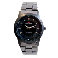 Swiss Army Men's- Jam Tangan Pria - TW 1638 MB Body + Bezel Hitam - MB - Stainless Steel Back