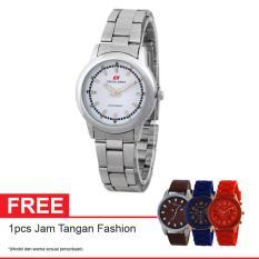 Swiss Army Quartz Watch SA 6033L SS SIL Free Jam Tangan Fashion - Jam Tangan Wanita - Silver