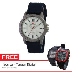 Swiss Army SA 7972 Navy SIL Free Jam Tangan Digital - Jam Tangan Wanita - Kanvas - Biru Navy
