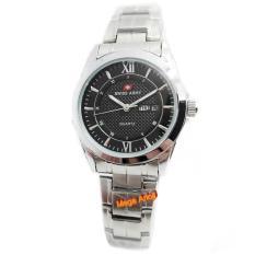 Swiss Army - SA0109L - Jam Tangan Wanita - Stainless Steel - Silver Hitam