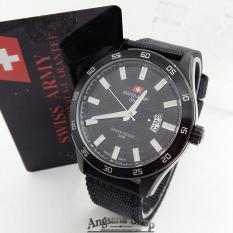 Swiss Army Sa3097 - Jam Tangan Pria Dan Wanita - Analog Simple - Date - Kanvas - (Full Black)