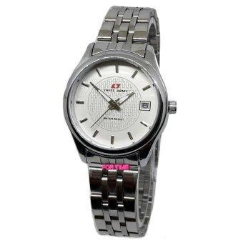 Swiss Army - SA6009L - Jam Tangan Wanita - Stainless Steel - silver putih