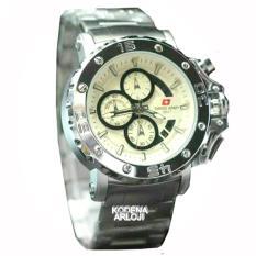 Swiss Army - SA6081M - Jam Tangan Pria - Strap Stainless Steel - Silver