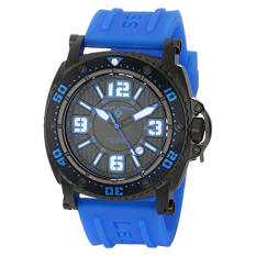 "Swiss Legend Men's 11503-BB-01-BLAS ""Typhoon"" Stainless Steel Watch With Blue Silicone Band (Intl)"