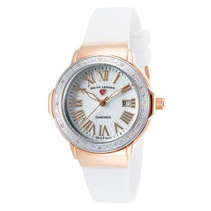 Swiss Legend Women's 20032DSM-RG-02-SB-WHT South Beach Analog Display Swiss Quartz White Watch (Intl)