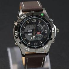 Swiss Time - Jam Tangan Dual Time Pria - Leather Strap - ST 076 Brown