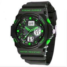 Synoke 66866 Men Watch Outdoor Sports Digital Watch Waterproof 50m with LED Backlight Green