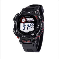 Synoke 89068 Sport Casual Watch Wristwatches 50M Waterproof with LED Backlight Red