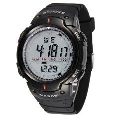 Synoke LED Sports Military Watch 30M Water Resistant Stopwatch Week Alarm Date Waterproof Digital Watch (Black)