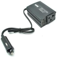 Taffware Power Inverter Mobil dengan 2 USB Port 150W 220V - Hitam