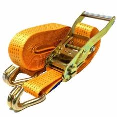 Tali Pengikat Barang Lebar 1 Inc x Panjang 1,5M ( Ratchet Tie Down Set ) - Orange
