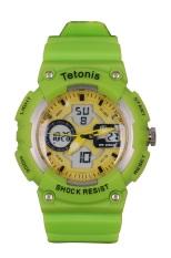 Tetonis Dual Time - Jam Tangan Pria TS 52 - Hijau