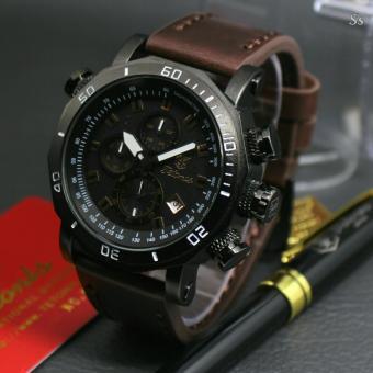 Tetonis - TS 1109 GR - Jam tangan pria design Exclusif - Leather strap - Chrono