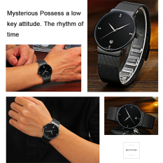 The Best Quality TTLIFE Luxury Brand Men's Fashion&Casual Ultra Thin Stainless Steel Mesh Band Date Waterproof Quartz Wrist Watch (Black)