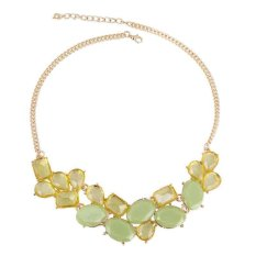 The New Style Of Summer Style Geometric Collision Color Irregular Necklace (Green)
