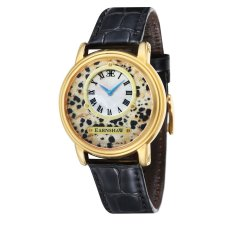 Thomas Earnshaw LAPIDARY MEN Black Genuine Leather Strap Watch - ES-0027-05 (Intl)