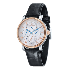 Thomas Earnshaw LONGCASE MASTER CALENDAR ES-8048-04 Men's Black Genuine Leather Strap Watch - Intl