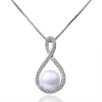Tiaria P020 Beautiful Pearl Pendants For Girl Friend Best Gift Aksesoris Liontin Lapis Emas 18K (Silver) (Silver)