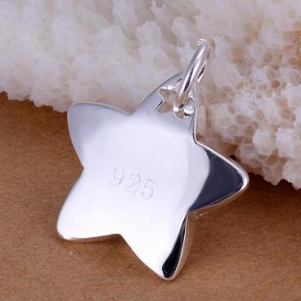 Tiaria P032 Nickel Lead Free Pendant For Gift Aksesoris Liontin Lapis Emas 18K (Silver)