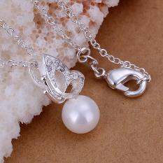 Tiaria P033 Nickel Lead Free Pendant For Gift Aksesoris Liontin Lapis Emas 18K (Silver) (Silver)