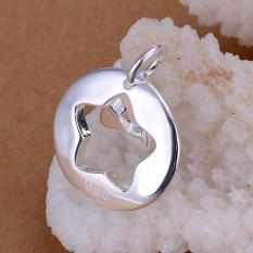 Tiaria P016 Nickel Lead Free Pendant For Gift Aksesoris Liontin Lapis Emas 18K (Silver) (Silver)