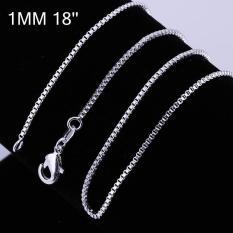 Tiaria Tiaria C007-18 Fashion Different Sizes Silver Snake Chain Aksesoris Kalung Lapis Emas 18K - Silver (Silver)