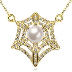 Tiaria Tiaria N037-A Zircon Necklace Fashion Jewelry Necklace Aksesoris Kalung Lapis Emas 18K - Silver (Silver) (Silver)