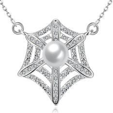 Tiaria Tiaria N037-C Zircon Necklace Fashion Jewelry Necklace Aksesoris Kalung Lapis Emas 18K - Silver (Silver) (Silver)