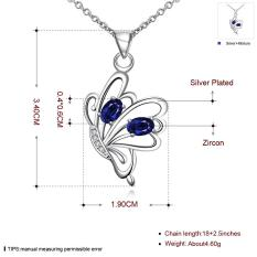 Tiaria Tiaria N079-B New Style Fashion Jewelry Silver Plating Necklace Aksesoris Kalung Lapis Emas 18K - Silver (Silver)
