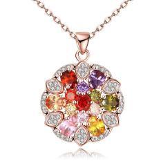 Tiaria Tiaria N116-B Zircon Necklace Fashion Jewelry Necklace Aksesoris Kalung Lapis Emas 18K - Silver (Silver)