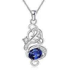 Tiaria Tiaria N117-A Necklace Brand New Design Pendant Necklaces Jewelry For Women Aksesoris Kalung Lapis Emas 18K - Silver (Silver)