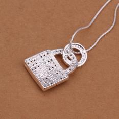 Tiaria Tiaria N351 Fashion Popular Chain Necklace Jewelry Aksesoris Kalung Lapis Emas 18K - Silver (Silver)