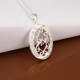 Tiaria Tiaria N417 Fashion Popular Chain Necklace Jewelry Aksesoris Kalung Lapis Emas 18K - Silver (Silver) (Silver)