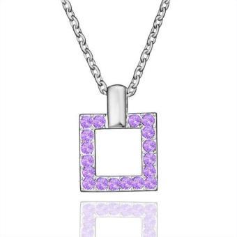 Tiaria Tiaria N515 Necklace Pendantsnew Fashion Jewelryfor Women Aksesoris Kalung Lapis Emas 18K - Silver (Silver) (Silver)