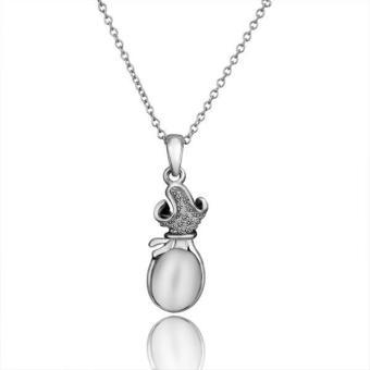 Tiaria Tiaria N645 Necklace Pendantsnew Fashion Jewelryfor Women Aksesoris Kalung Lapis Emas 18K - Silver (Silver) (Silver)
