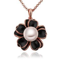 Tiaria Tiaria N713 Necklace Pendantsnew Fashion Flower Necklace Aksesoris Kalung Lapis Emas 18K - Silver (Silver)