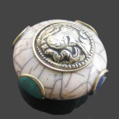 Tibetan Silver Stone Pendant