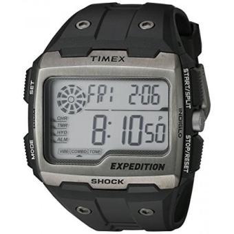 Timex Mens TW4B02500 Expedition Grid Shock Black Resin Strap Watch - intl