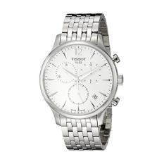 Tissot Men's T0636171103700 Tradition Analog Display Swiss Quartz Silver Watch - Intl